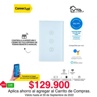 Interruptor Inteligente Cortinas Connect IOT VTA ZM