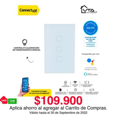Interruptor Triple Inteligente Connect IOT VTA APP ZM