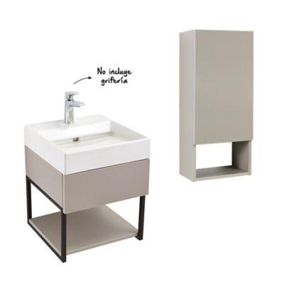 Combo Fussion Plus: Mueble Plus + Lavamanos + Gabinete