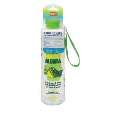 Botella 750ml Infusor Verde Decorado Tritan