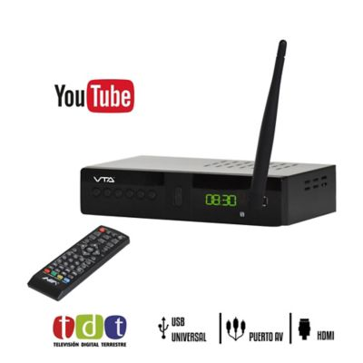 Decodificador TDT Con Acceso Wifi Youtube + Antena