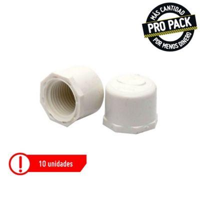 Tapón Roscado 1/2 Presión Propack 10 und