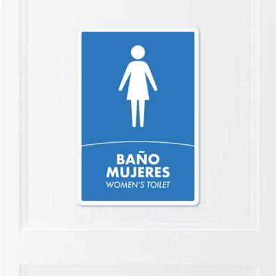Señal Baño Mujeres 22x15cm Poliestireno
