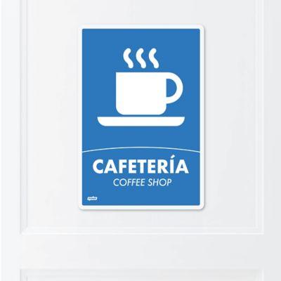 Señal Caféteria 22x15cm Poliestireno