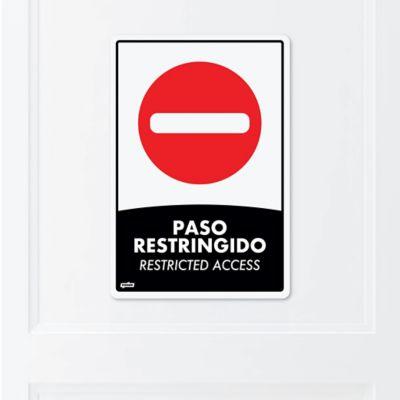 Señal Paso Restringido 22x15cm Poliestireno