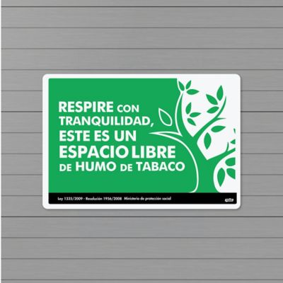 Señal Prohibido Fumar 22x15cm Poliestireno