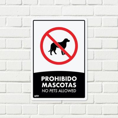 Señal Prohibido Mascotas 22x15cm Poliestireno
