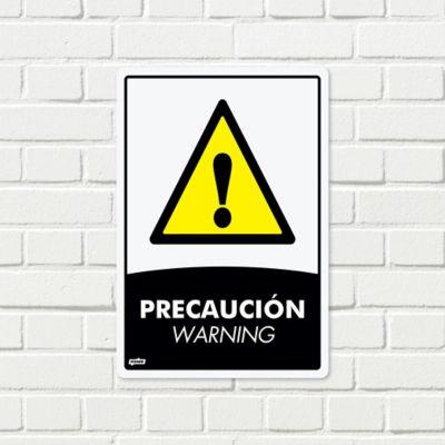 Señal Precaución 22x15cm Poliestireno