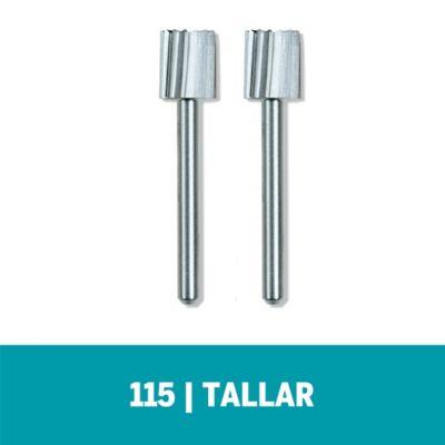 Set Fresa de Alta Velocidad HSS 115 Cuadrada 5/16-pulg (7,9mm) x 2und