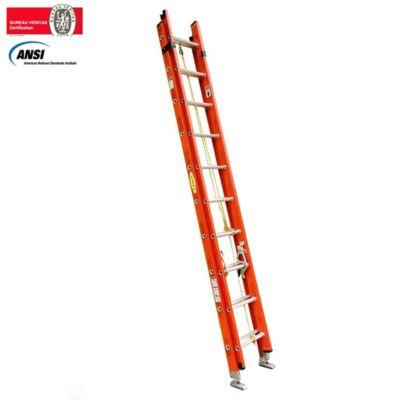 Alquiler Escalera de Extension Dieléctrica 20 Pasos 3 a 6.0mt Resistencia 136kg