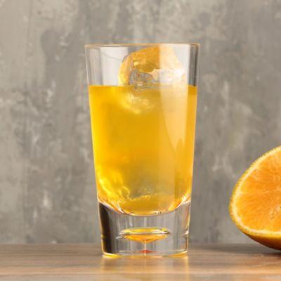 Vaso 300cc corto burbuja naranja