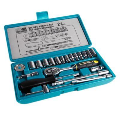 Juego de herramientas ratchet 1/4 pulgada 21 piezas T221S1U