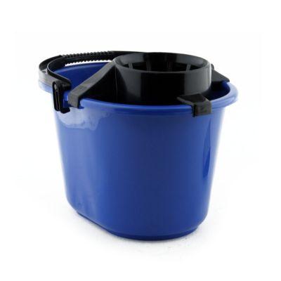 Balde con escurridor 12 litros azul