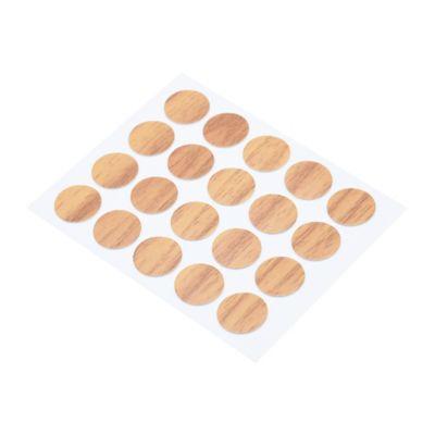 Tapatornillos Adhesivos 20und Roble