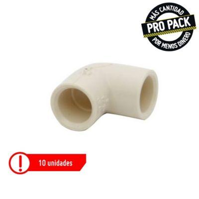 Codo 90x1/2 CPVC Propack 10 und