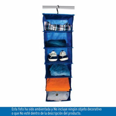 Organizador De Zapatos 6 Pares Niños Closet 64x20x25 cm Azul
