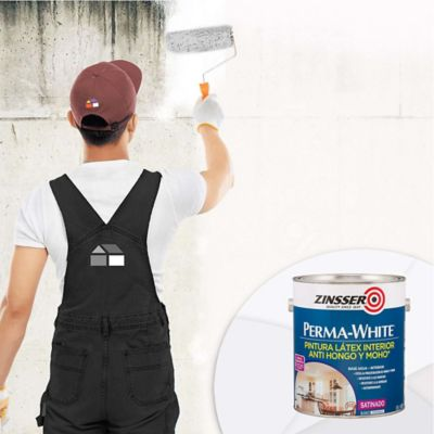 Pintura para Interior Anti Hongo y Moho Blanco 1 Galón
