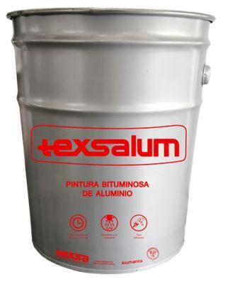PINTURA BITUMINOSA DE ALUMINIO TEXSALUM - 16kg - impermeabilización y reparación de humedad