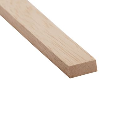 Pisavidrio 2x1 cm x 2.5 Mts. Cedro Blanco Crudo