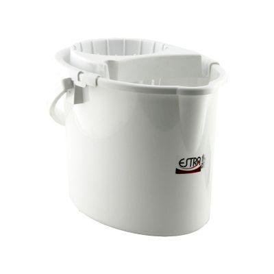 Balde 12 litros blanco, con escurridor
