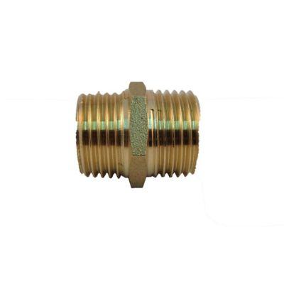 Nippler Barril Macho Bronce 1/2x1/2Pulg NPT