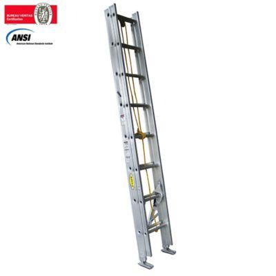 Alquiler Escalera de Extension en Aluminio 16 Pasos 2.5 a 5.0mt Resistencia 136kg