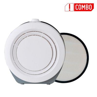 Combo Purificador de Aire 110V Blanco + Filtro Hepa para Purificador