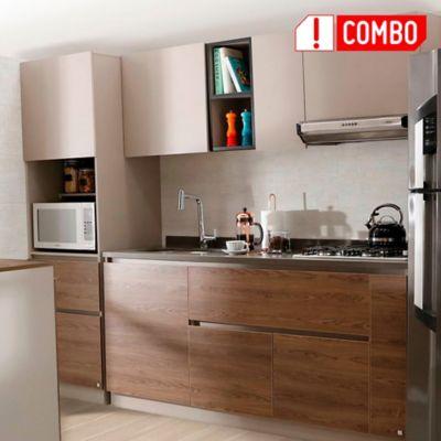 Cocina Integral Savona 1.80 Incluye Mesón Izquierdo + Alacena Savona