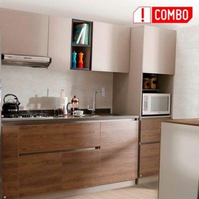 Cocina Integral Savona 1.80 Incluye Mesón Derecho + Alacena Savona
