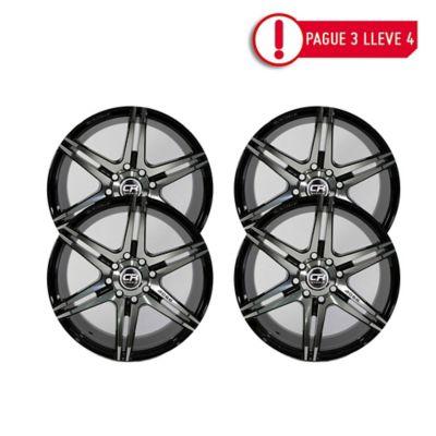 Combo Rin 15 Aluminio Crw 3928 Negro Pague 3 Lleve 4