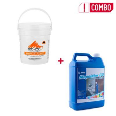 Combo Broncoelástico Gris 24kg 5gl + Mapelatex CO 4Kg (SKU 343116)