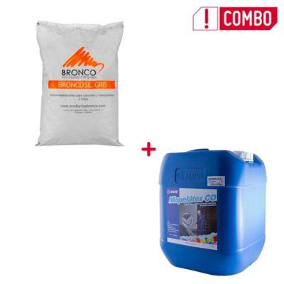 Combo Broncosil Gris 25kg + Mapelatex CO 20kg (SKU 373454)