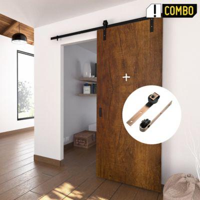 Puerta Deslizable Arizona 80x220 cm + Kit Riel