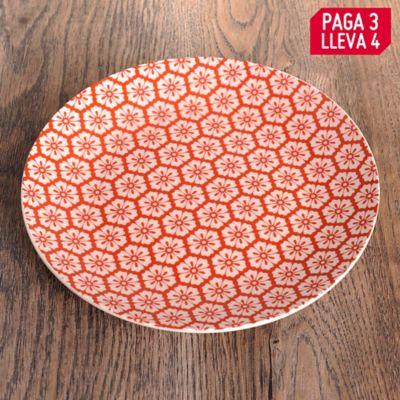 Pague 3 Lleve 4 Plato Jaipur Red 19cm