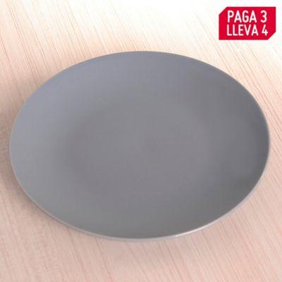 Pague 3 Lleve 4 Plato Grey Crush Solido 19cm