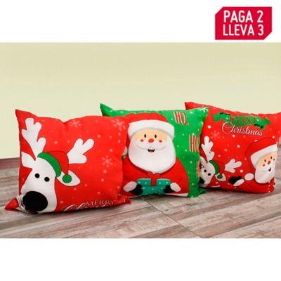 Pague 2 Lleve 3 Cojín Navidad 40x40cm
