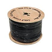 Cable coaxial blanco RG-6 1 metro