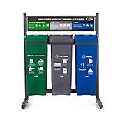 Punto Ecológico 3 Puntos No Reciclable, Papel Cartón, Plástico 53 Litros