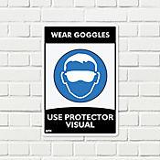 Señal Use Protector Visual 22x15cm
