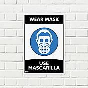 Señal Use Mascarilla 22x15cm