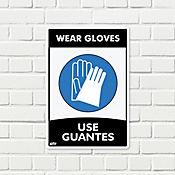 Señal Use Guantes 22x15cm