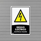 Señal Riesgo Eléctrico 22x15cm