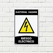 Señal Riesgo Eléctrico 35x24cm