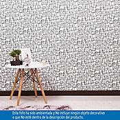 Papel Mural Geométrico Blanco Negro 5 Metros 2