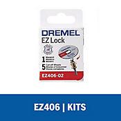 Kit Adaptador Cambio Rápido EZ Lock + Discos de Corte Metal 1 ½-pulg EZ406