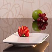 Plato rectangular 24 cm blanco cera