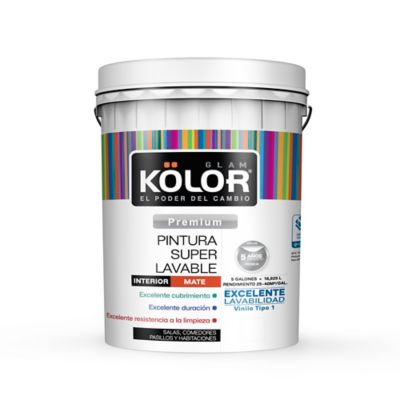 Pintura Para Interior Blanco Almendra Super Lavable 5 Galones