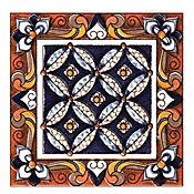 Taco Cerámico Decorativo Alcantara 8.6x8.6 cm Azul
