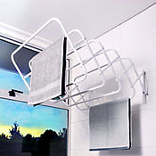 Tendedero Pared 9 Tubos 60cm 25 Kls Duplex Blanco