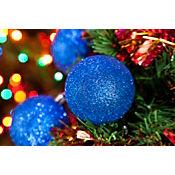 Esfera 6cm X12und Azul Escarcha